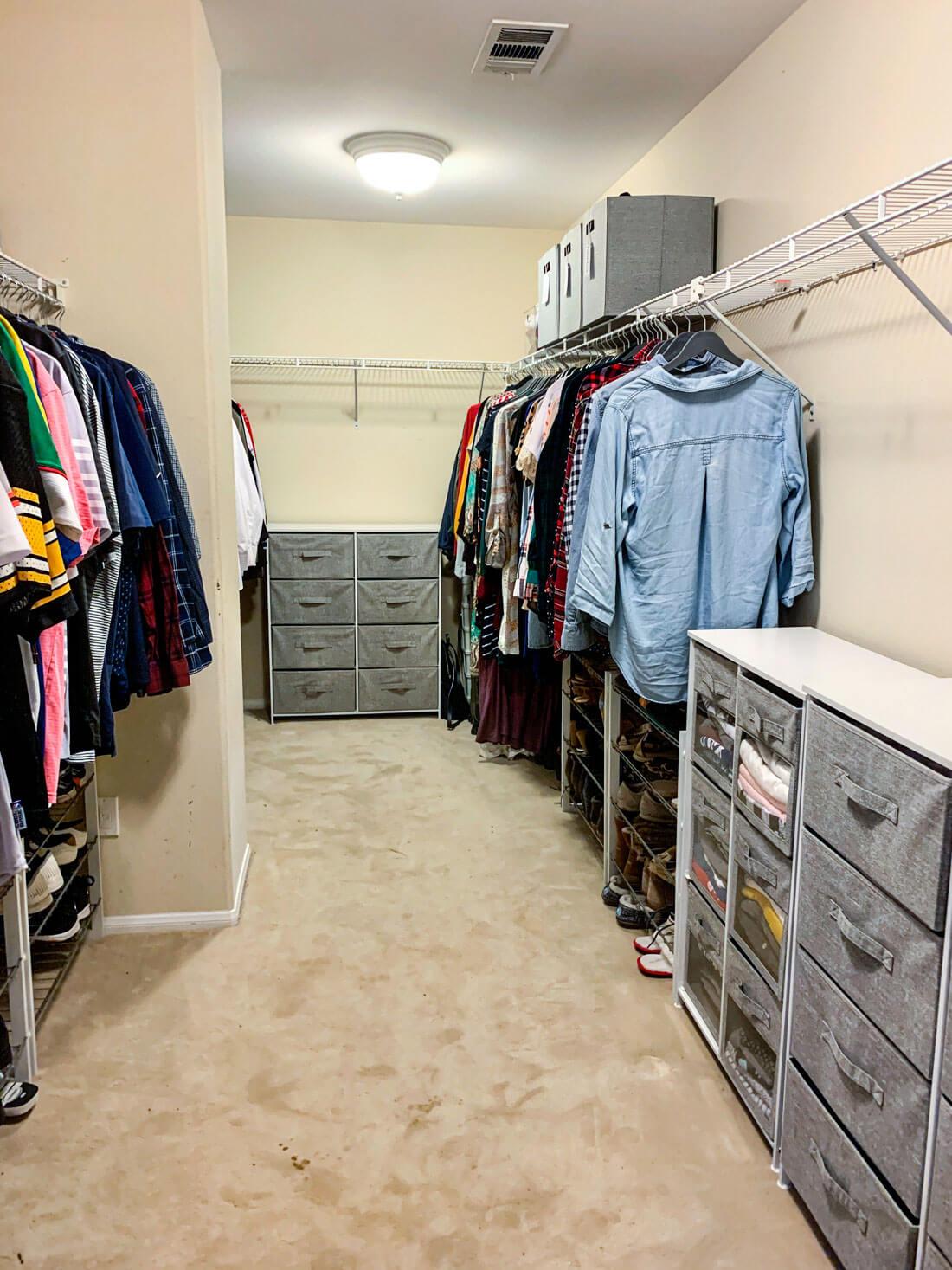 Closet organization ideas for master bedroom closet