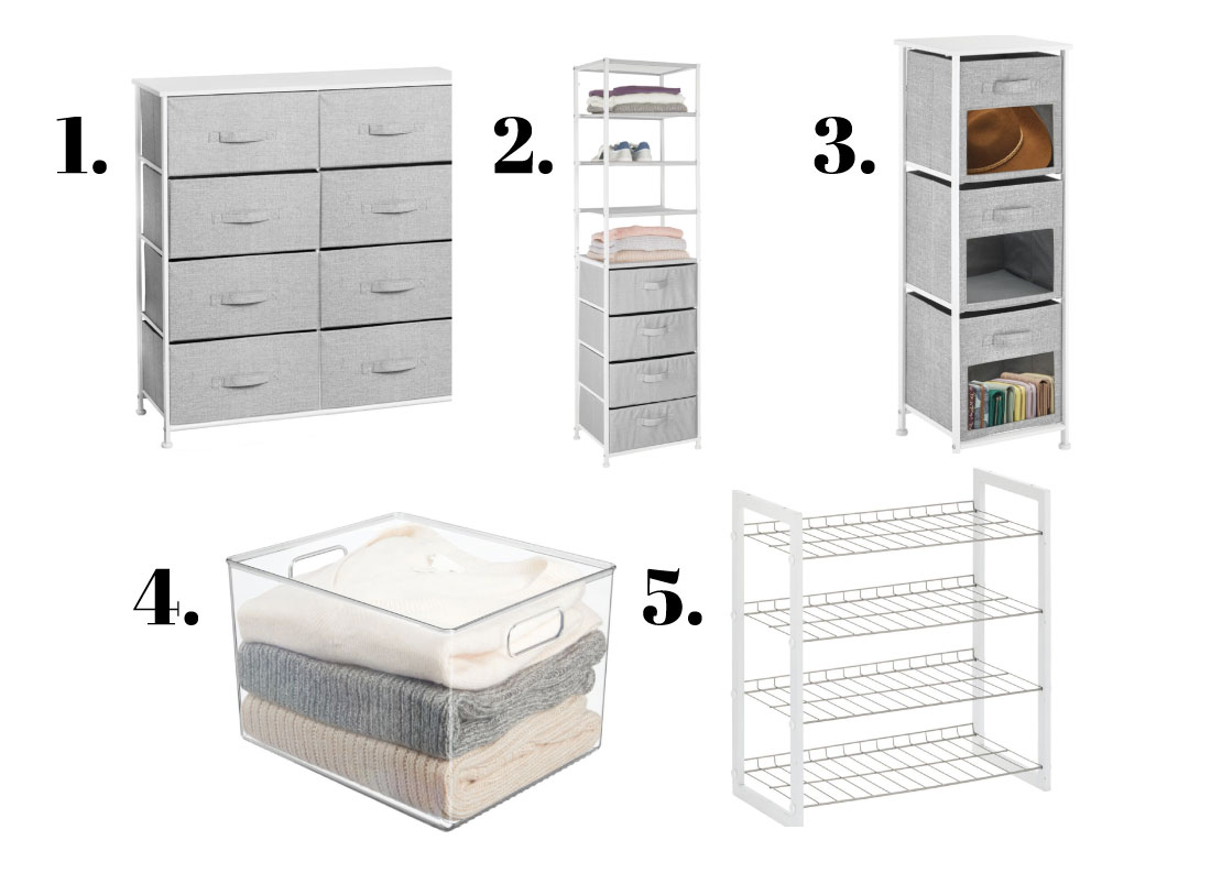 Closet organization ideas with products
