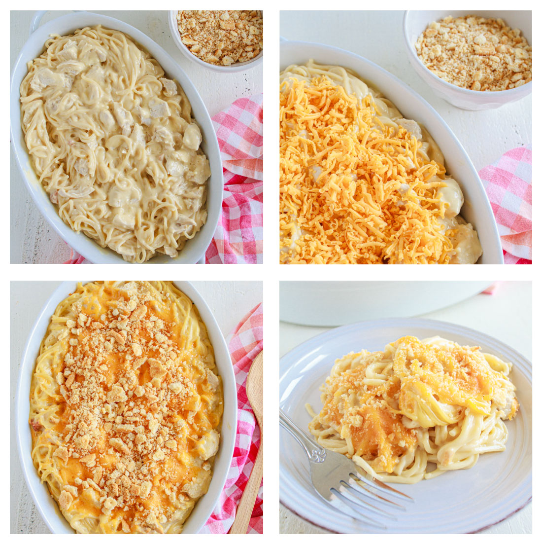 Chicken Noodle Casserole collage