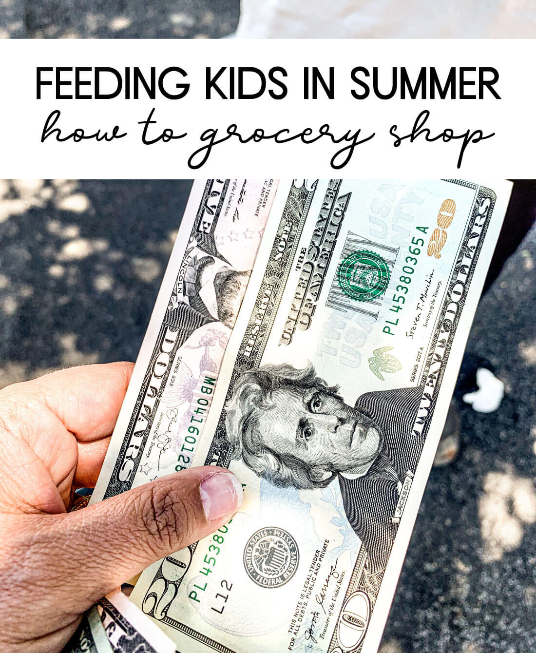 Feeding Kids in Summer - teaching how to grocery shop