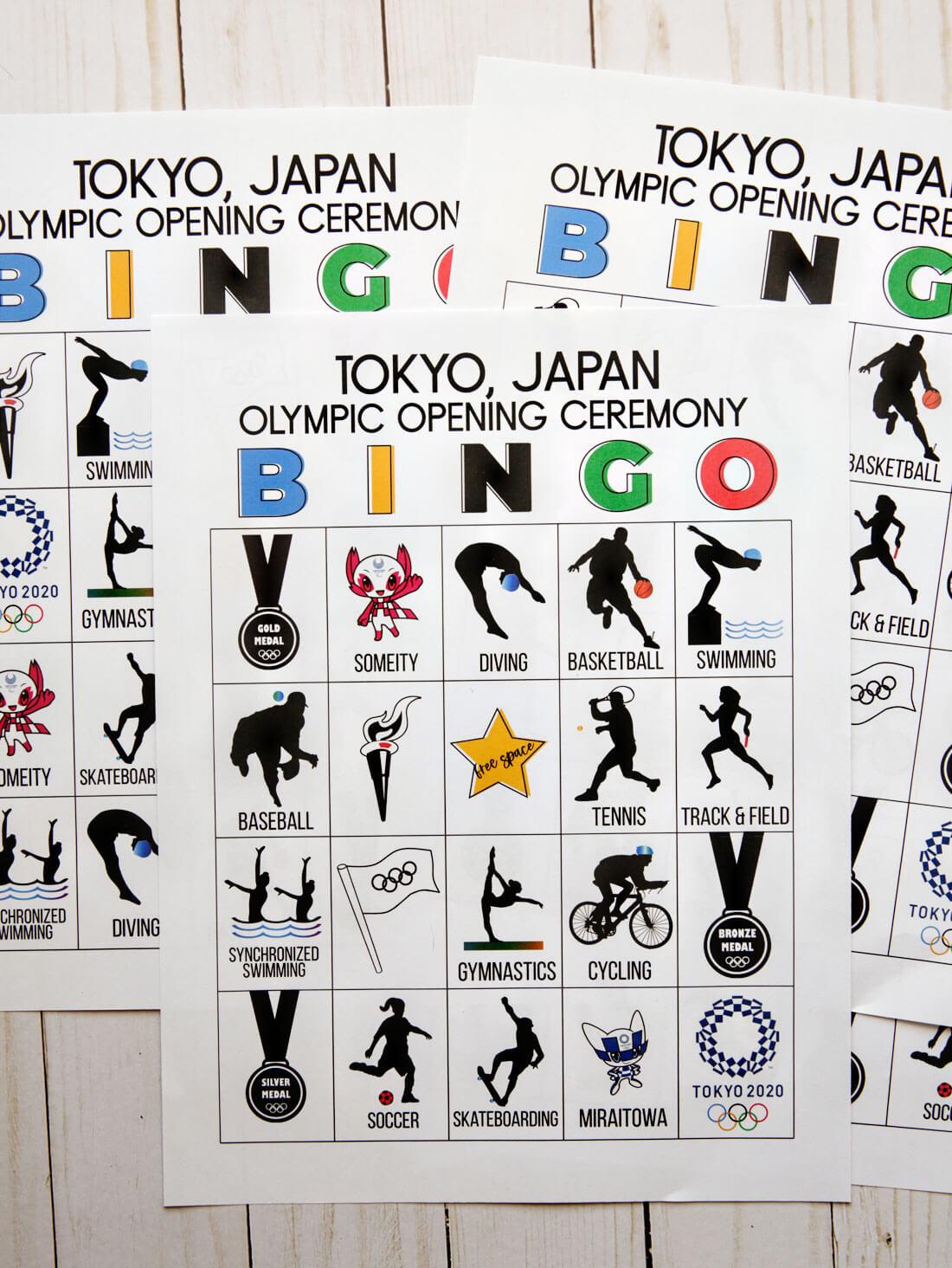Olympics Opening Ceremony BINGO for Japan