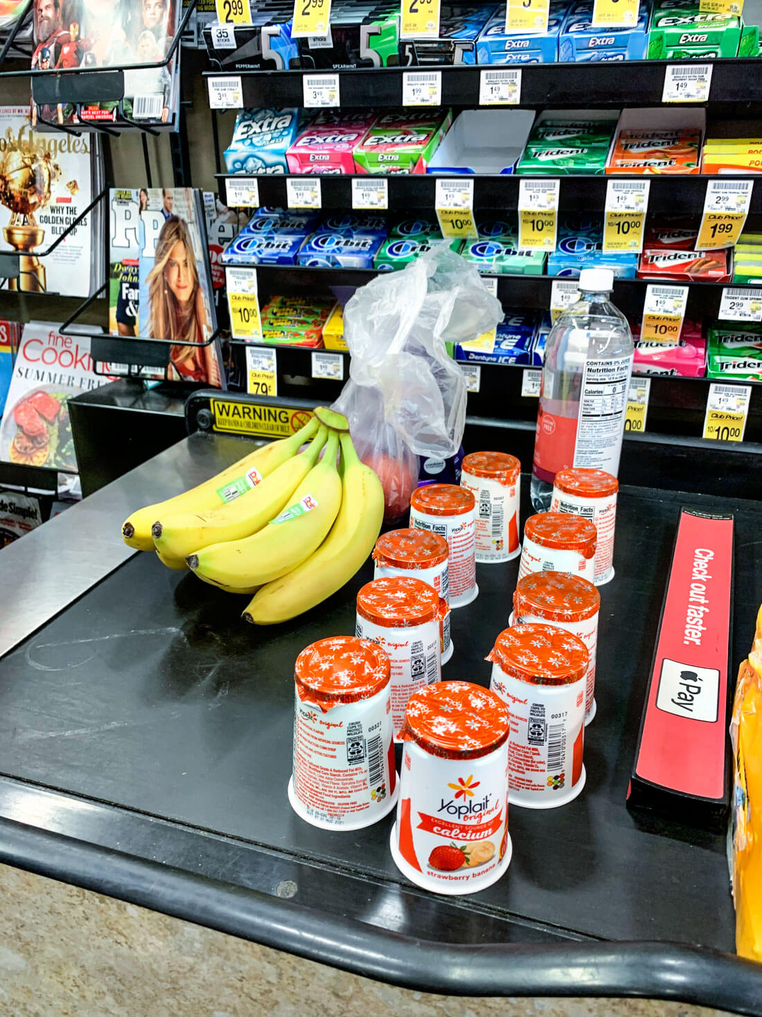 Healthy snacks from grocery shopping