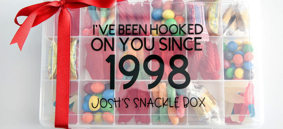 Anniversary Gift Ideas: Snackle Box Made with Cricut