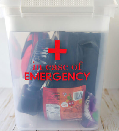 Car Emergency Kit with Label